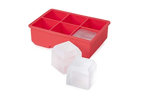 Core Home Essential Silicone Ice Cube Tray 6 Large- Strawberry color (Ice Core compare prices)