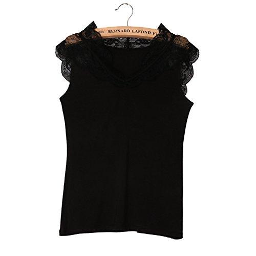 Sólido hueco BR vest/ Honda/ blusa de lencería B