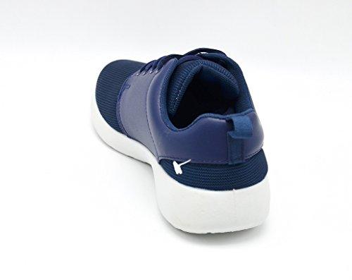 Shop Mode Imitation My Femme Uni Semelle Blanche Avec Shy15 Oh Et Baskets Marine Sneakers Bleu Running Cuir Toile 56xz4Awq