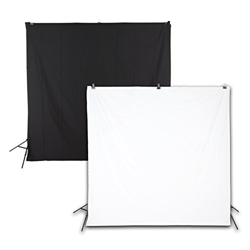 WholeProducts 배경포 백스 클린 흑백 흑백 겸용 200cm*200cm 촬영용 양면