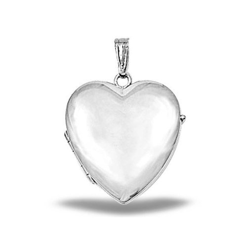4 Photo Heart Locket (Sterling Silver Heart Four Photo Locket 1 Inch X 1 Inch in Sterling Silver)