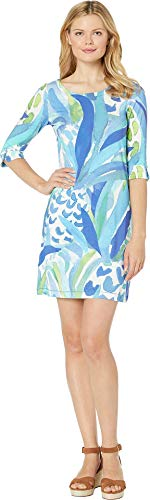 Hatley Women's Lucy Dress Painted Pineapple Blue Medium ()