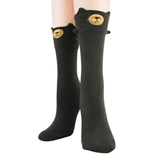 Foot Traffic - Women's 3D Socks (Bear, Women's Shoe Size 4-10)