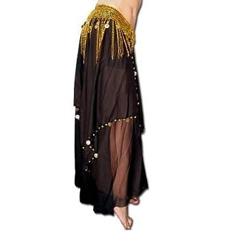 HenryG Alta Calidad gasa de danza del vientre falda con más de 50 ...