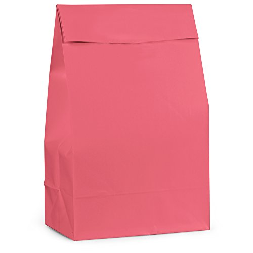 Hot Pink Paper Party Favor Bags, -