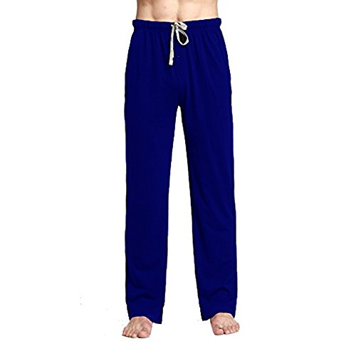 CYZ Cotton Knit Pajama Lounge Sleep Pants-Navy-L (Pj Sleep)