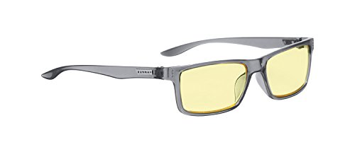 Gunnar Optiks VER-06701 Vertex Computer glasses, block blue light, Anti-glare, minimize digital eye strain, Smoke/Amber