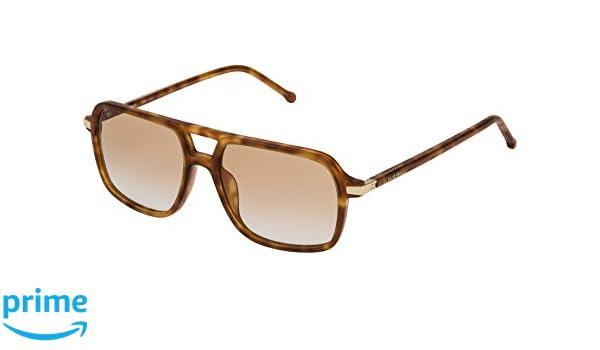 Loewe SLW973M5506PL Gafas de sol, Shiny Light Havana, 55 ...