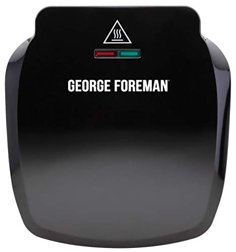 George Foreman Compact 2-Portion Grill 23400 - Black