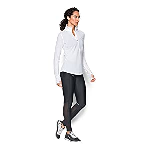 Under Armour Women's Fly-By Legging, Black/Black, Medium