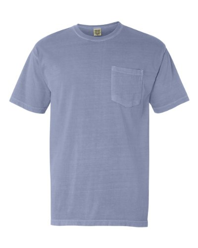 Ice Color (Comfort Colors Pigment-Dyed Short Sleeve Shirt with a Pocket, XL, Ice Blue)