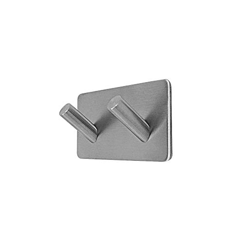 MXTECHNIC Bathroom Robe Towel Hooks,Stainless Steel Peel Sti