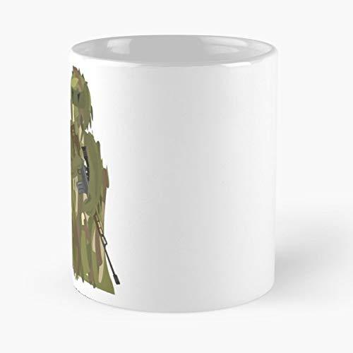 Operator Warrior Soldier Army - Morning Coffee Mug Ceramic Novelty Holiday (Best Milsim Airsoft Guns)