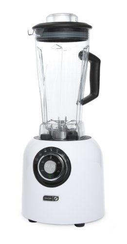 Hot Chocolate Series (Dash Chef Series 64 oz Blender with Stainless Steel Blades + Digital Display for Coffee Drinks, Frozen Cocktails, Smoothies, Soup, Fondue & More - White)