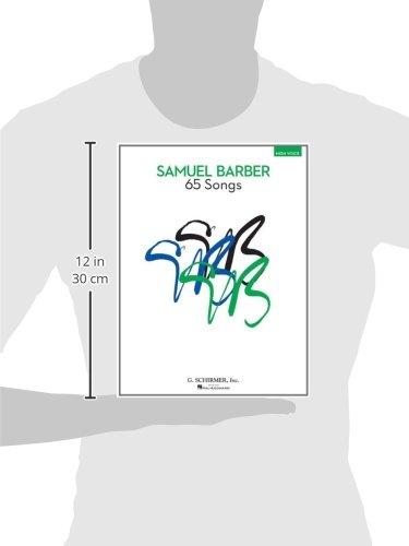 65 Songs High Voice Edition Richard Walters Samuel Barber