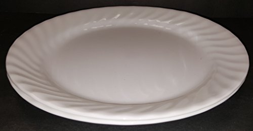 Corning Corelle Enhancement (White Swirl) Dinner Plate - One (1) Plate