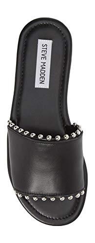 Brew 8 M Women's Black Steve Slide 5 Madden Leather Sandal 7E0xqfwg