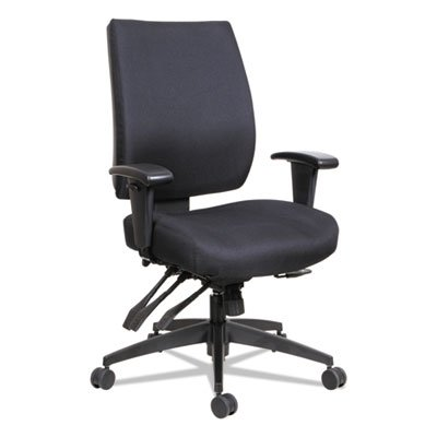 Alera ALEHPM4201 Wrigley Series High Performance Mid-Back Multifunction Task Chair, Black