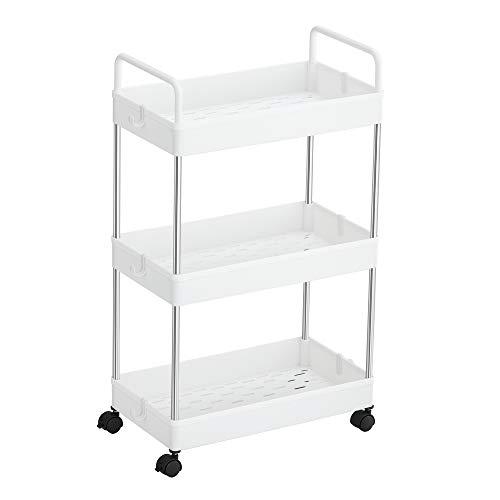SONGMICS Rolling Cart, 3-Tier Storage