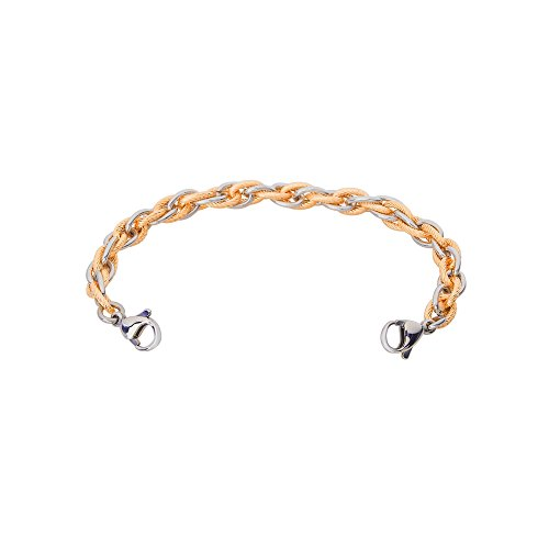 Divoti Inter-Mesh Gold & Silver Stainless Steel Interchangeable Medical Alert Replacement Bracelet for Women ()