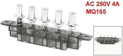DULALA Interruptor 5 Pulsador Tipo de Piano Interruptor de Teclado para Campana extractora (MQ165 AC 250V 4A): Amazon.es: Hogar