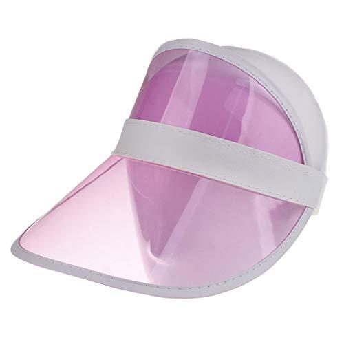 Dressin Sun Visor Hat Outdoor UV Protection Sun Caps Beach Sun Hats for Women Men and Wide Brim Pink]()