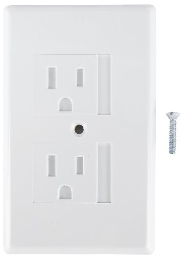 Mommy's Helper Safe Plate Electrical Outlet Covers Standard, White - 5 Pack (Standard Mommys Helper Plate Safe)
