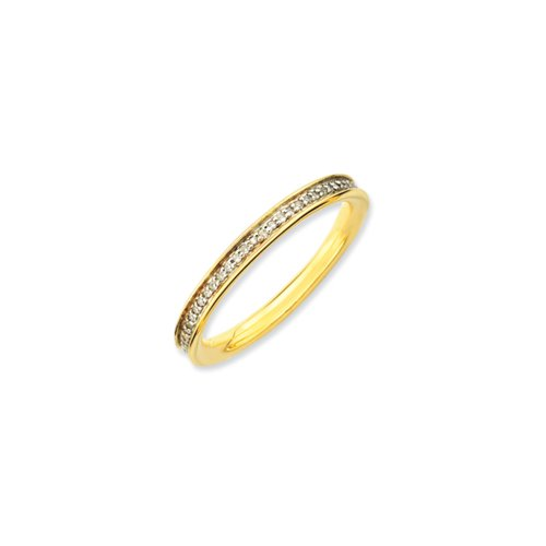 2.25mm 14KY Gold & Silver Stackable .207 Cttw HI/I3 Diamond Band Sz 7 by Stackable Expressions