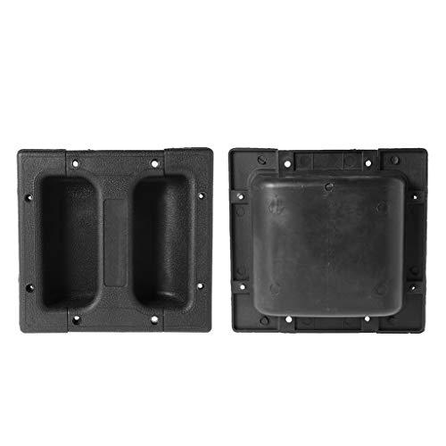 Simdoc 1 Set Loudspeakers Recessed Handle Replacement Black Speaker Carry for Guitar Amp Cabinet,15×14cm