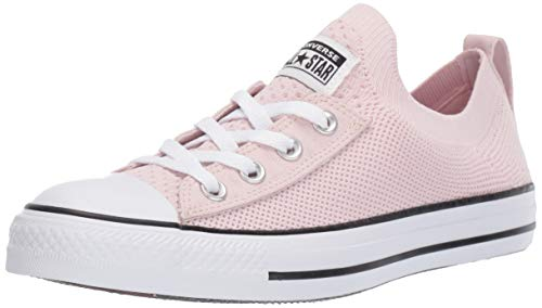 Converse Women's Chuck Taylor All Star Shoreline Knit Slip On Sneaker Barely Rose/White/Black 8.5 M US (Chuck Pink Taylor Converse Women)