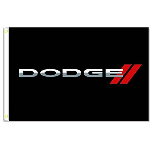 Home King Dodge Black Flags Banner 3X5FT 100% Polyester,Canv