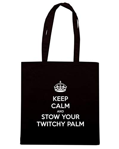 Nera KEEP TKC0854 Shopper YOUR AND Shirt TWITCHY CALM PALM Speed STOW Borsa qxn4twOX