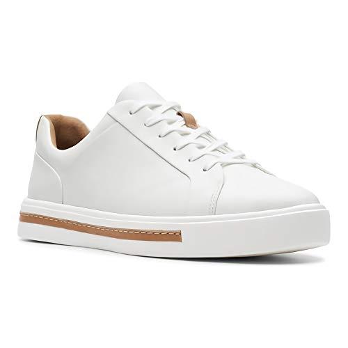 Lace Stringate Un Donna Clarks Scarpe white Bianco Leather Derby Maui EIwxqfqv
