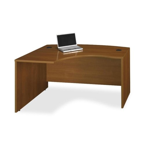 BBF Series C Collection 60W x 43D Left Hand L-Bow Desk Shell in Warm Oak (Finish Desk L-bow)