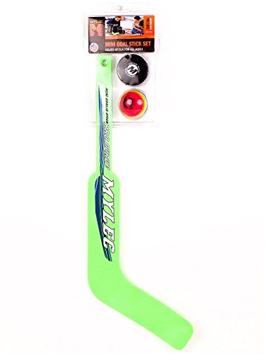 Mylec Mini Knee Hockey Goal Stick Set (Hockey Puck Stick And Goal)