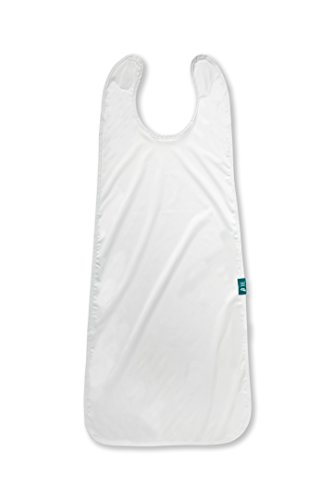 Bluebird HM Extra Long and Waterproof Adult Bib Clothing Protector, White by Bluebird Home Medical (Image #4)