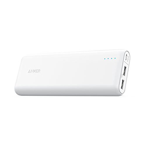 Anker Portable Charger PowerCore 20100mAh - Ultra High Capacity Power Bank with 4.8A Output, External Battery Pack for iPhone, iPad & Samsung Galaxy & More (White)