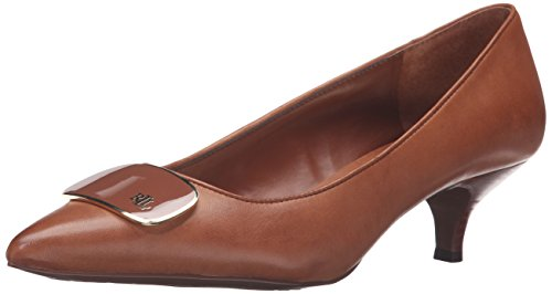 Lauren by Ralph LaurenAbina - Abina Femme Polo Tan Signature Burnished Calf