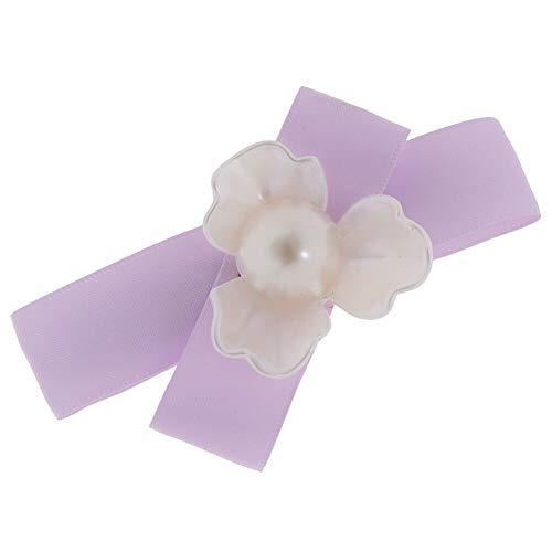 Three-leaf Petal bow Hair Clip Hairpin Barrette Steel Clips Jewelry Headpiece (ColourID - Light Purple)