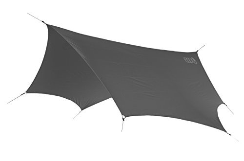 ENO - Eagles Nest Outfitters DryFly Rain Tarp, Ultralight Hammock Accessory, Charcoal