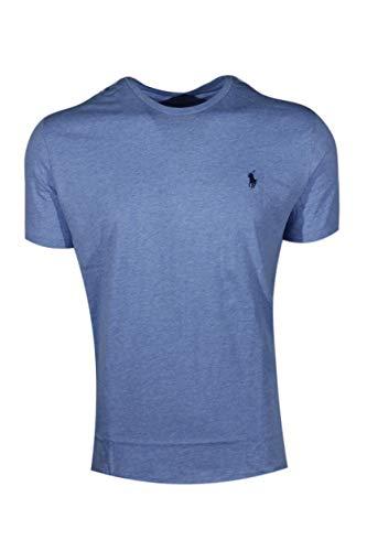 (Polo Ralph Lauren Men's Pony Logo Crew Neck T-Shirt (Large, Cobalt Heather))