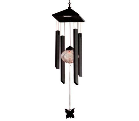 ECBUY Solar Powered Colour Changing LED Wind chime Outdoor Garden Metal Wind Chime Shopmonk
