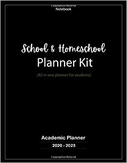 School & Homeschool Planner Kit: All in one planner for students