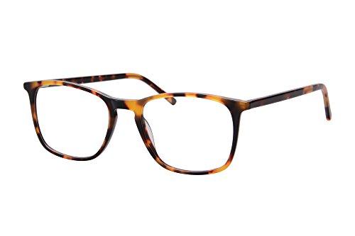 SHINU Ultra Thin Acetate Frame Progressive Multifocus Anti-Blue Light Reading Glasses-SH042(brown demi, anti-blue up 0 down 2.50)