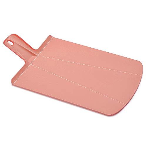 Joseph Joseph Chop2Pot Foldable Plastic Cutting Board 19 x 10.75 Non-Slip Feet 4-inch Handle Dishwasher Safe, Large, Soft Pink
