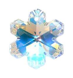 Swarovski 6704 Snowflakes Beads, Aurora Borealis, Crystal, 20mm, (Glass Snowflake Beads)