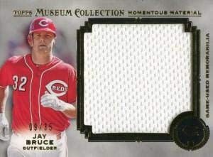 (Jay Bruce Unsigned 2013 Topps Museum Collection Jersey Card - Baseball Game Used Cards)