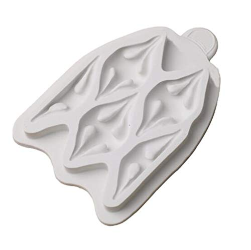 Silicone Billow Puff Fondant Icing Mold, Gum Paste Fondant Mold, Cake Border Cupcake Silicone Mat Mold, Easy Fabric Puff Silicone Icing Mould For Sugarcraft Cake Decoration Making Crafting