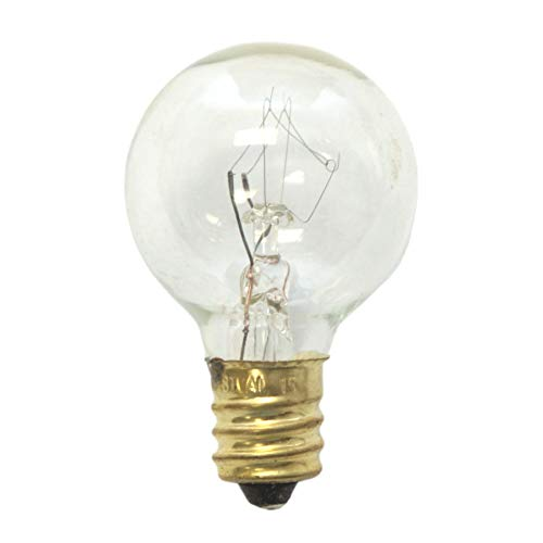 Sival SVLG305E12CLLIST2 Replacement Globe Light Bulb, G30 (Small Size), 5W/130V, E12 Base, Clear, 25 ()
