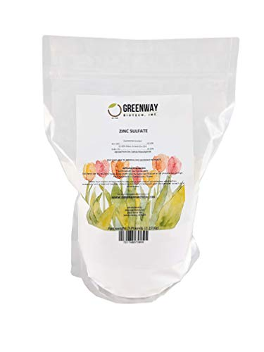 "Zinc Sulfate Powder 35.5% Monohydrate Plus 16.5% Sulfur ""Greenway Biotech Brand"" 5 Pounds For Sale"